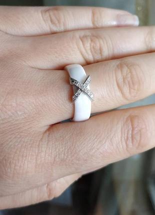 Колечко керамическое керамика кольцо белое10 фото