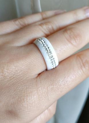 Колечко керамическое керамика кольцо белое8 фото