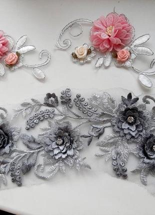 Нашивки цветы