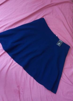 Большой размер. скидки на всю одежду. стильная синяя юбка 20 рр