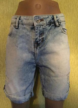 Шорты джинсовые с рванками