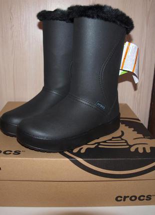 Зимние сапоги crocs colorlite mid boot 36 размер оригинал
