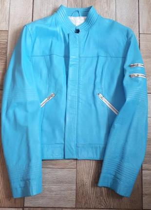 Кожанная куртка(италия)