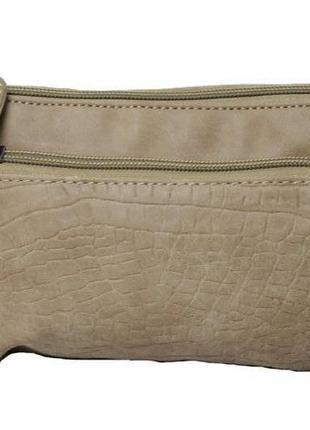Женская маленькая бежевая сумочка enrico benetti. код п38435