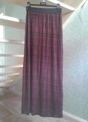 Модная юбка махі принт