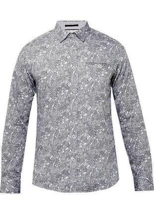 Мужская приталенная рубашка люксового бренда ted baker s-m,оригинал