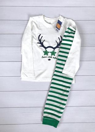 Классная новогодняя пижама из хлопка lupilu 110-116 отличная идея для подарка