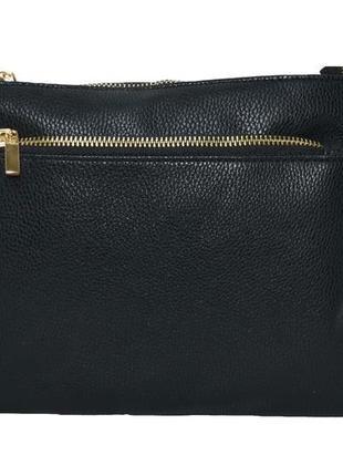 Женская маленькая черная сумка с плечевым ремнем. код п38965