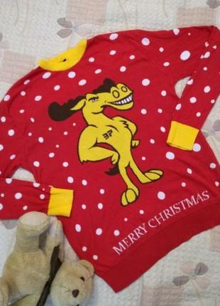 Классный новогодний свитер  c  з о ш ным лозунгом