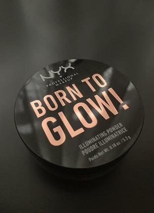 Пудра nyx born to glow ultra light beam. иллюминатор