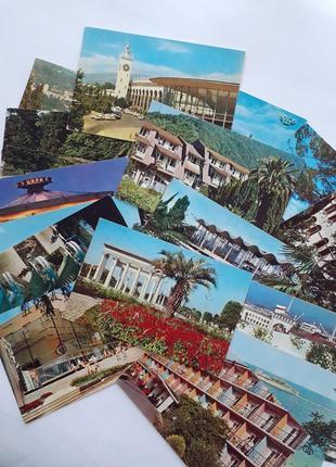Черноморское побережье кавказа набор открыток ссср советские ретро винтаж