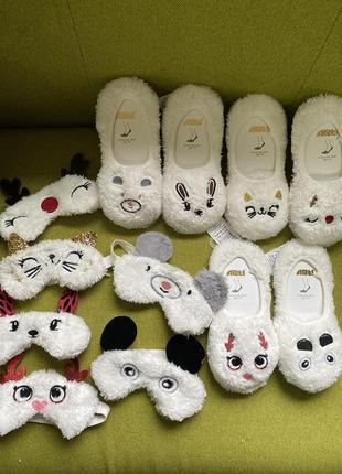 Носки тапочки новогодние шкарпетки