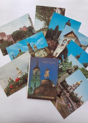 Киев київ набор открыток ссср советские цветные почтовые фотокарточки