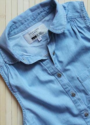 Рубашка из тонкого денима new look