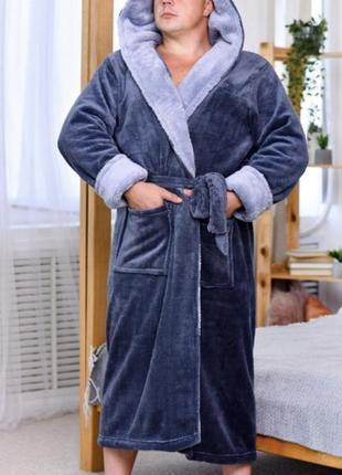 Мужские махровые пушистые халаты2 фото