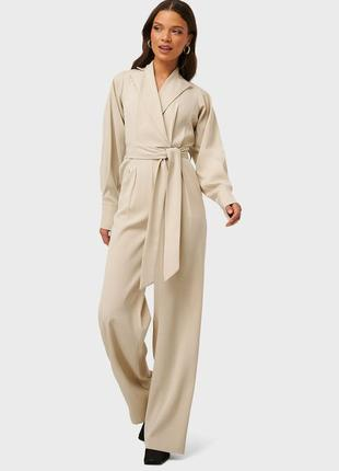 Комбинезон брючный с широкими брюками и обьемным рукавом na-kd