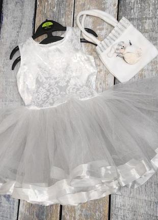 Платье снежинки рост 104