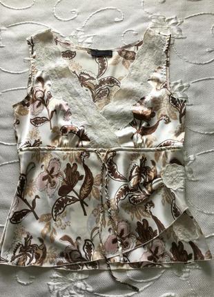 Блуза с кружевом р-р м индия