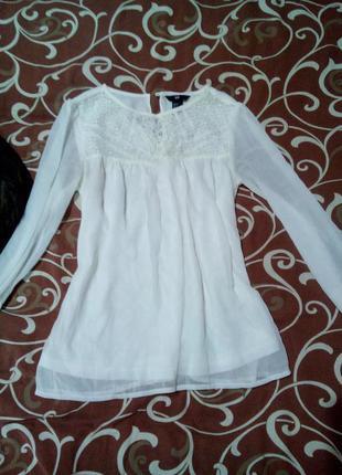 Белая блузочка h&m