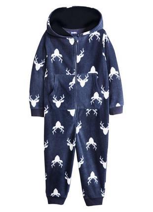 Теплая пижама кигуруми флисовый для мальчика 98/104