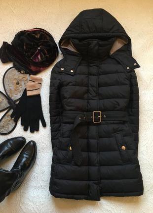 Чёрная куртка пуховик на миниатюрную барышню /colin's/размер s-m