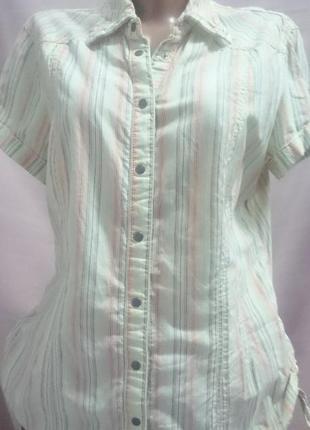 Блузка s.oliver пастельная полоска xl