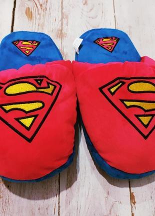 Домашние тапочки супермен комикс
