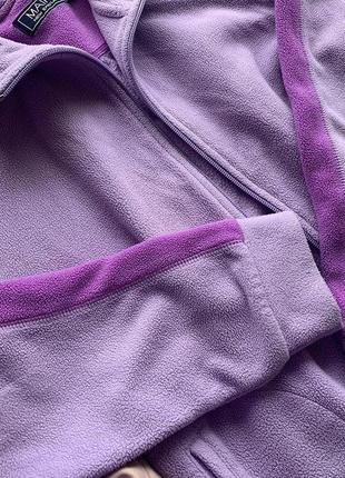 Фиолетовая кофта на молнии