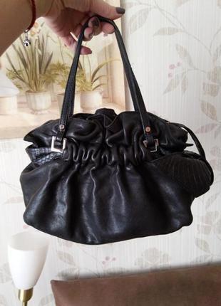 Фирменная кожаная сумка karen millen