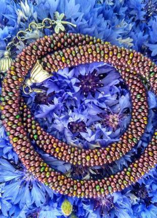 Разноцветный жгут ручной работы