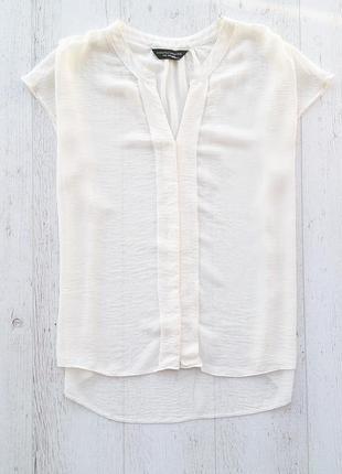 Нежная шифоновая блуза рубашка молочного цвета dorothy perkins