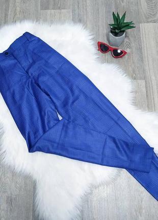 Синие классические брюки в клетку 😍