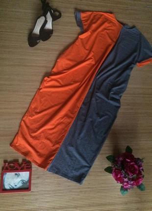Стильное трикотажное платье свободного кроя , размер м-l