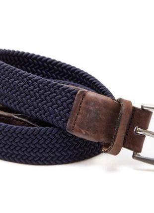 119. ремень-резинка с кожаными вставками. размер 80-90