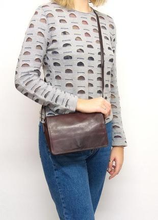 Кожаная сумка, кроссбоди, bodenschatz, натуральная кожа