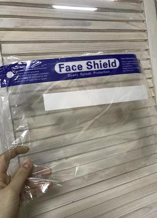 Защитный экран для лица, пластиковый щиток, захисний щиток