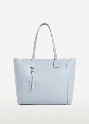 Новая сумка-шопер с молнией zara