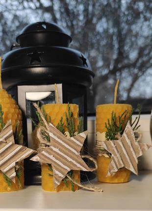 Свечи ручнной работы из вощины