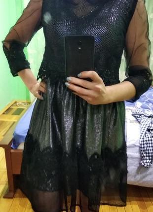 Вечернее новогоднее платье размер 44