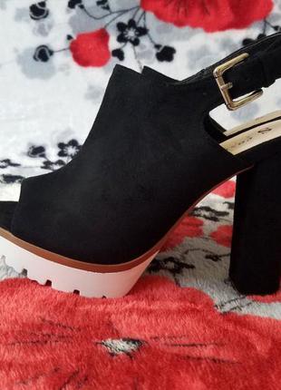 Босоножки на каблуке черные размеры 35, 36, 37, 38, 39, 40