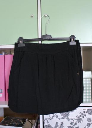 Мини юбка легкая из вискозы, легкая mango м