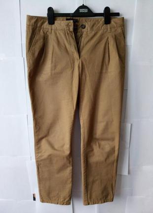 Штани mango коричнево-гірчичного кольору. розмір m-l