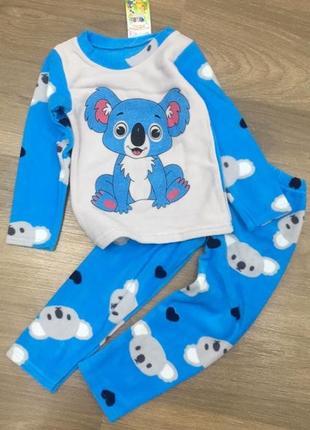 Флисовая пижама на мальчика рост 116/122