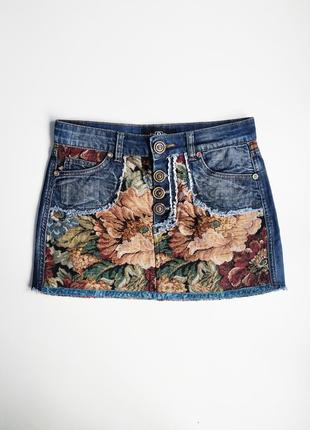 Женская джинсовая юбка chanel