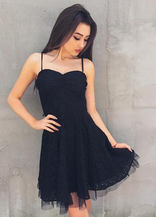 Платье с пышной юбкой,  фатином и кружевом h&m