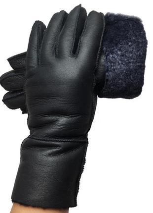 Кожаные перчатки на натуральной овчине, отличный подарок на праздник