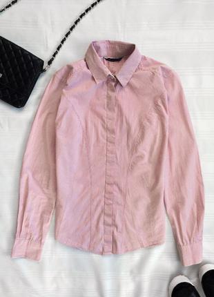 Трендова класична сорочка полоска рожевий