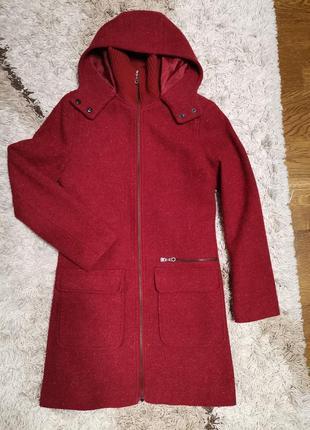 Пальто шерстяное h&m logg, размер указан eur 34, us 4.