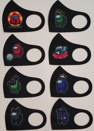 Защитные маски among us