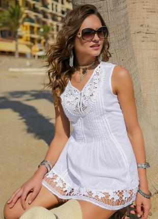 Пляжная блузка туника indiano серия fresh cotton